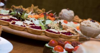 catering business,  vegetarian buffet